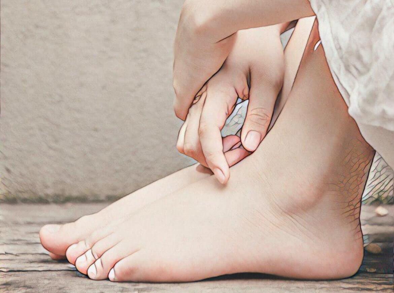 фото ног с прыщами